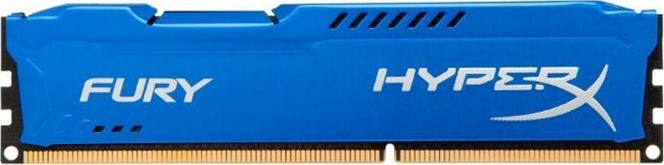 Оперативная память Kingston HX316C10FK2/16 16GB DDR3 1600 DIMM HyperX FURY Blue, Non-ECC, CL10, Kit (2x8GB)