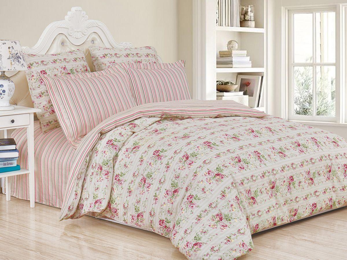 Комплект постельного белья Cleo Satin de' Luxe Фелания, 20/517-SK, разноцветный, 2-спальный, наволочки 70x70