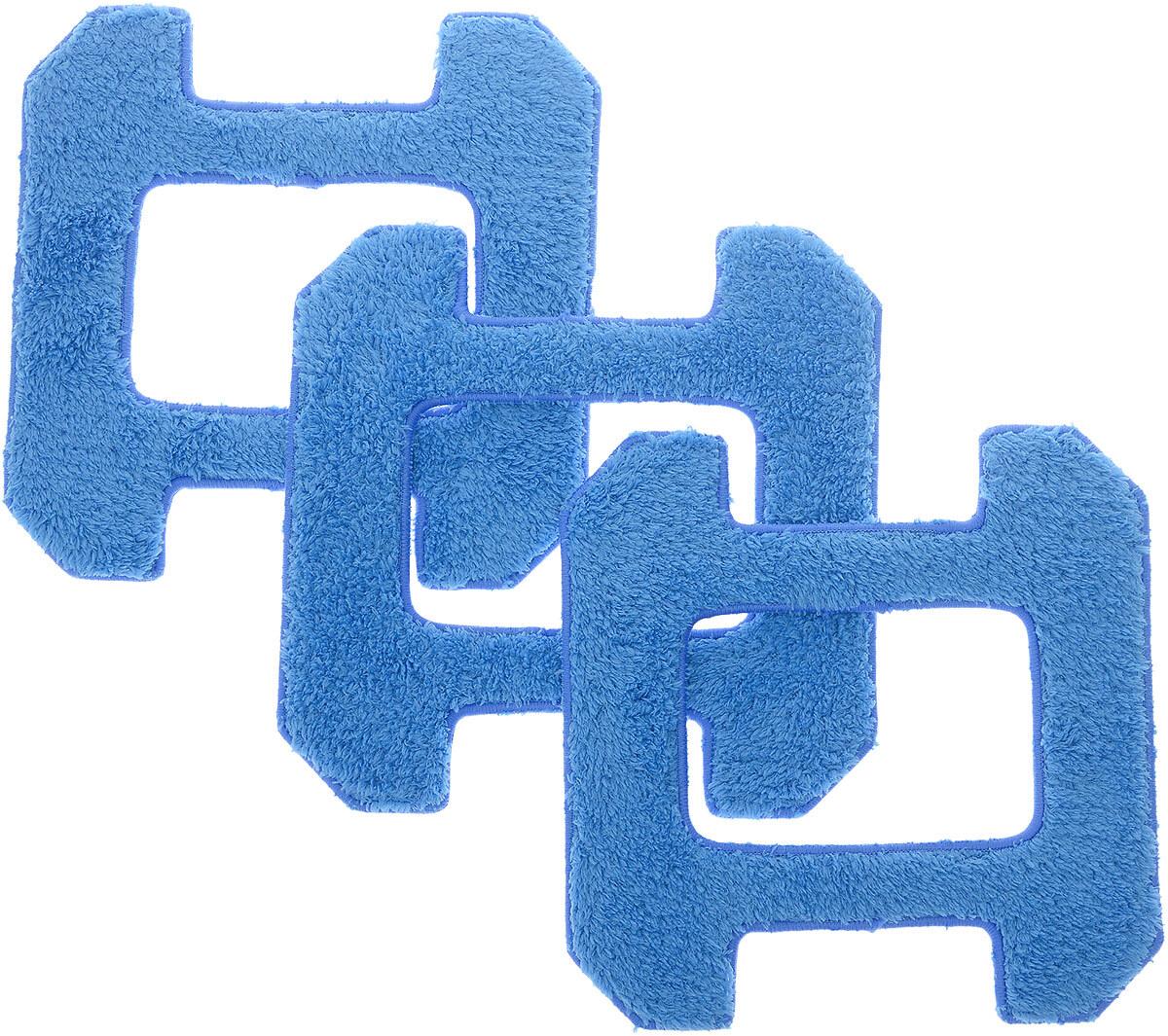 Чистящие салфетки Hobot-268 / Hobot-288 (синие) (комплект из 3 шт.) Синие салфетки с длинным ворсом...
