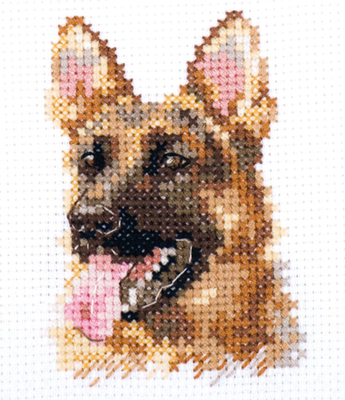 Набор для вышивания крестом Алиса Животные в портретах Овчарка, 0-209, 6 х 8 см
