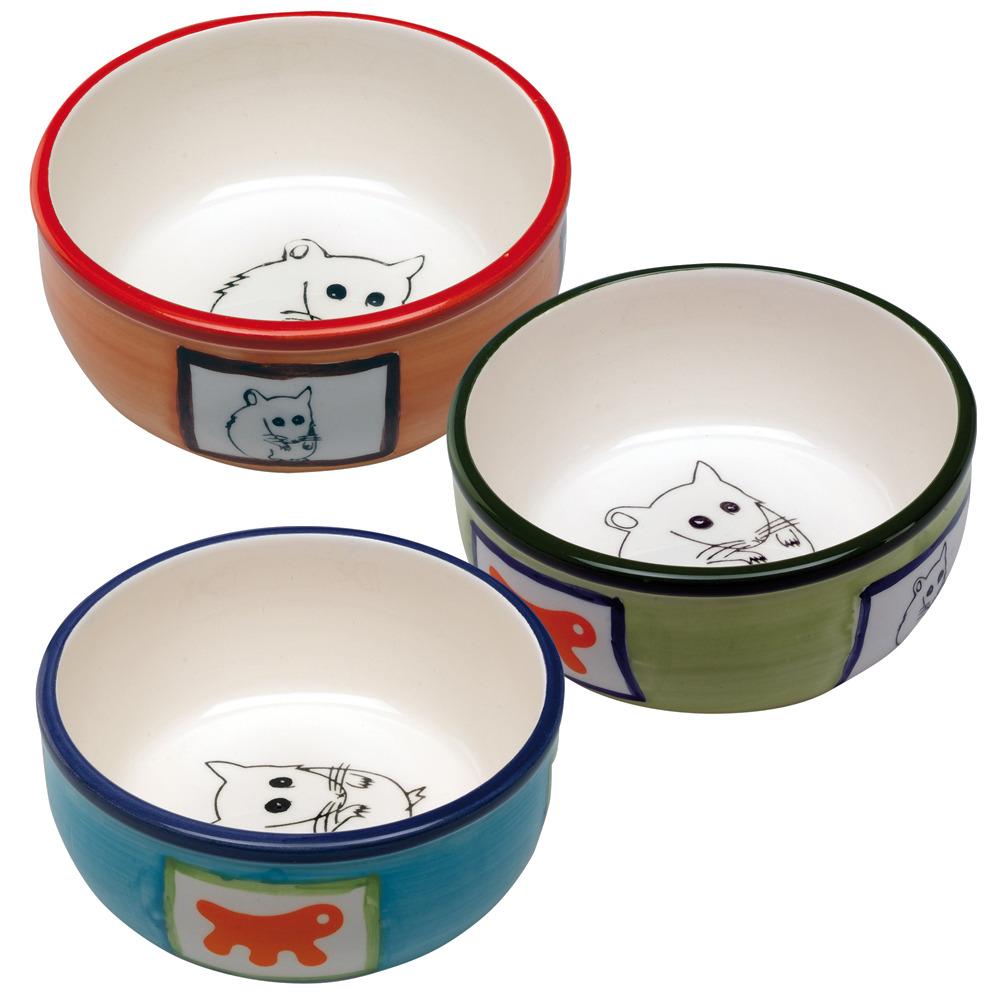 Миска для грызунов Ferplast РА 1088 керамическая с декоративным рисунком, 10,2 x h 3,7 cm - 0,18 L, 188 гр