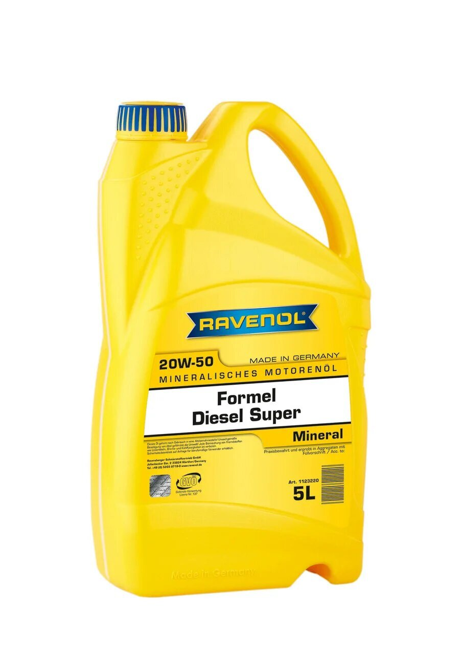 Моторное масло RAVENOL Formel Diesel Super SAE 20W-50 ( 5л) new