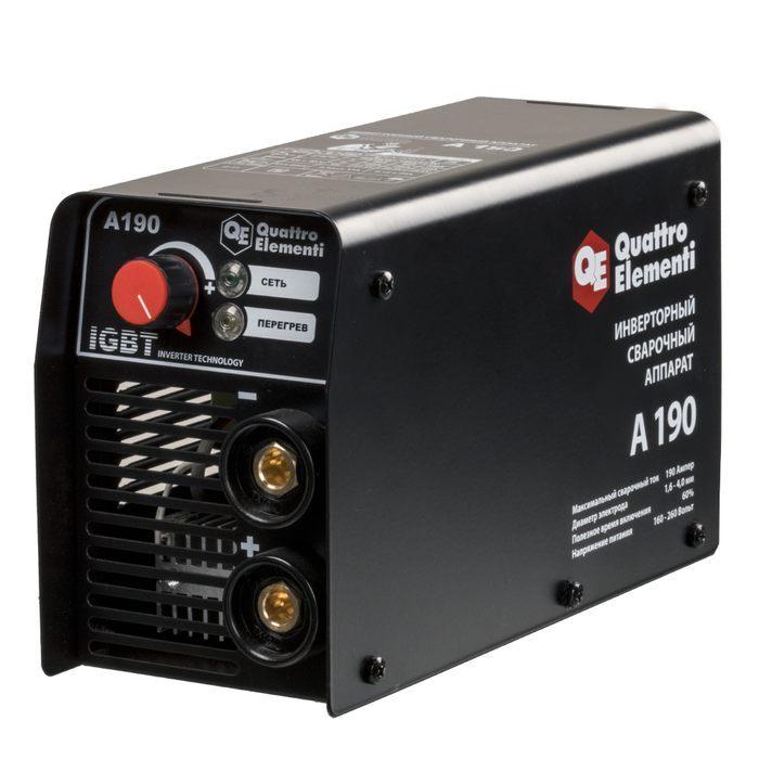 Аппарат электродной сварки, инвертор quattro elementi a 190