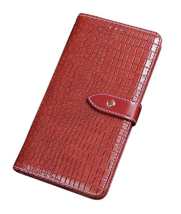 Чехол-книжка MyPads для Samsung Galaxy A71 SM-A715F (2020) с фактурной прошивкой рельефа кожи крокодила с застежкой и визитницей красный