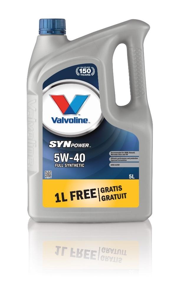 Масло моторное Valvoline SynPower 5W-40 4+1л