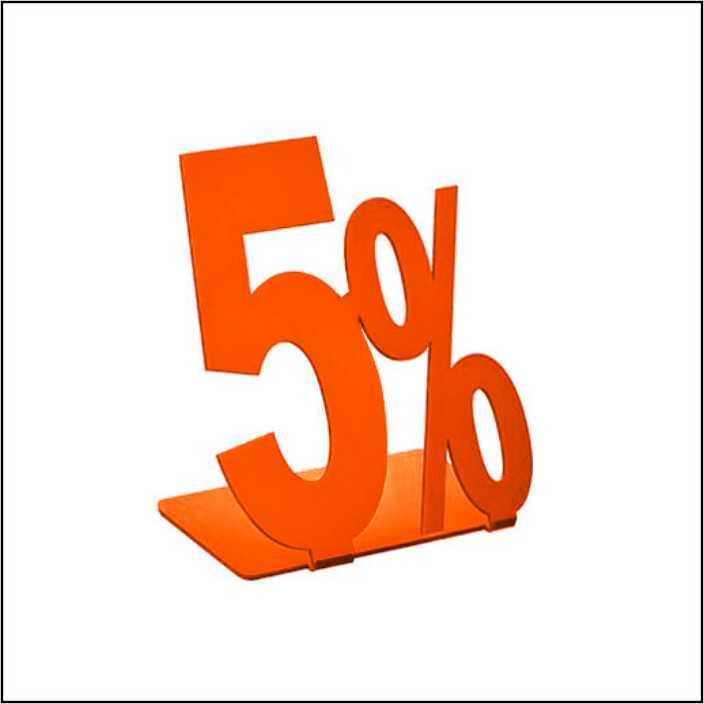 "Информационная табличка подставка ""5%"" 90*107мм, 2шт"