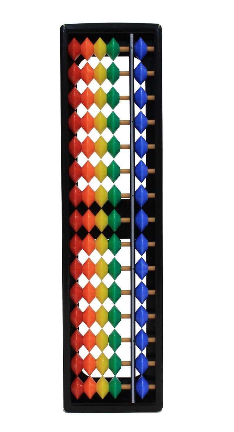 Счеты Абакус 15 разрядные ASMAR, цветные