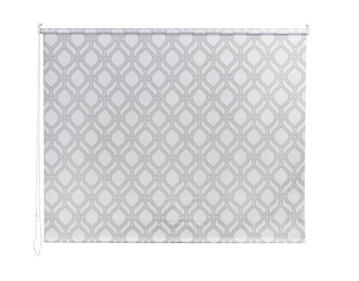 Штора рулонная, 180х175 см, цвет серый-20381
