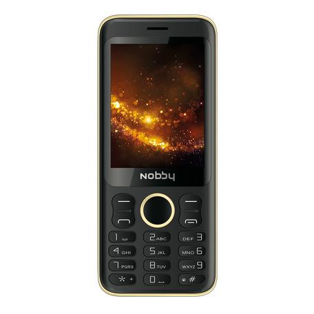 мобильный телефон nobby 321, золотой, черный