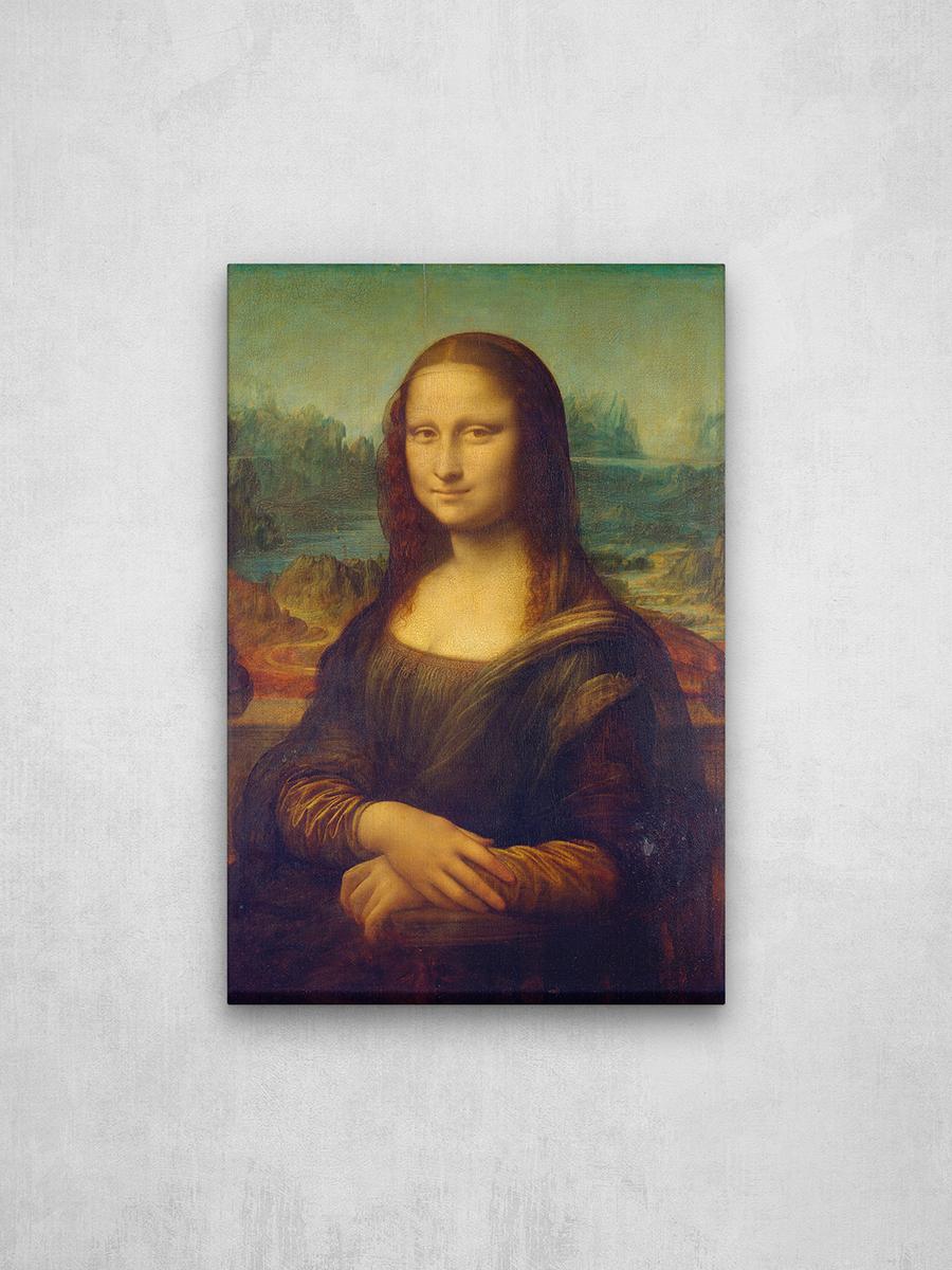 """Картина на холсте, репродукция """"Мона Лиза (Джоконда)"""" Леонардо да Винчи, 26.5х40 см / Галерейщикъ"""