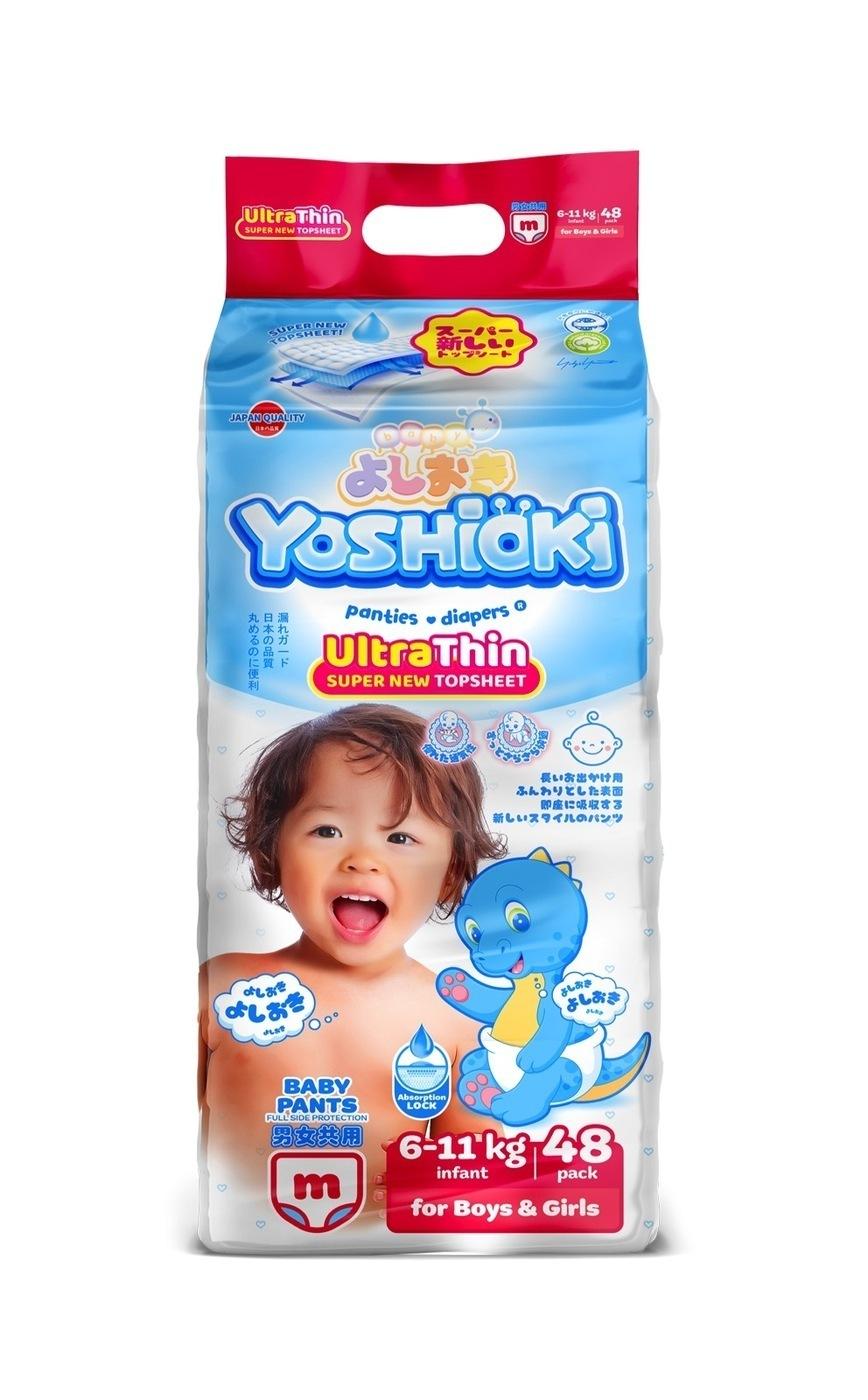 YOSHIOKI трусики - подгузники, ультратонкая серия, размер M (6 - 11 кг) 48 шт