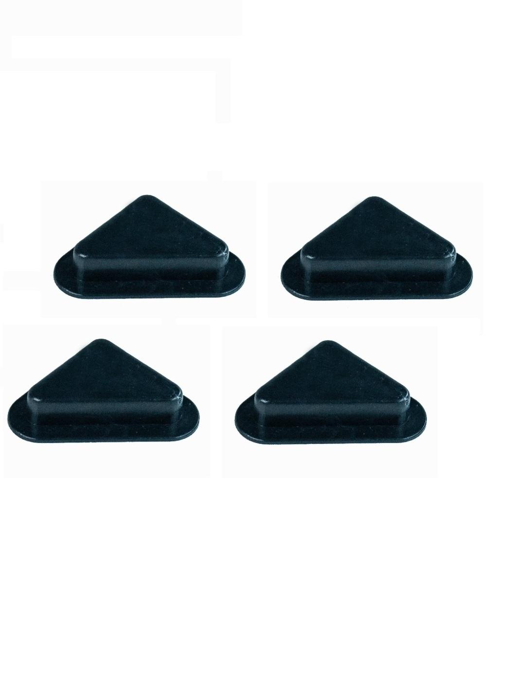 Опора/ножка мебельная треугольная пластиковая, высота 25 мм., комплект 4 шт.