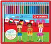 Карандаши цветные STABILO Color, 24 цвета, в металлическом футляре - изображение
