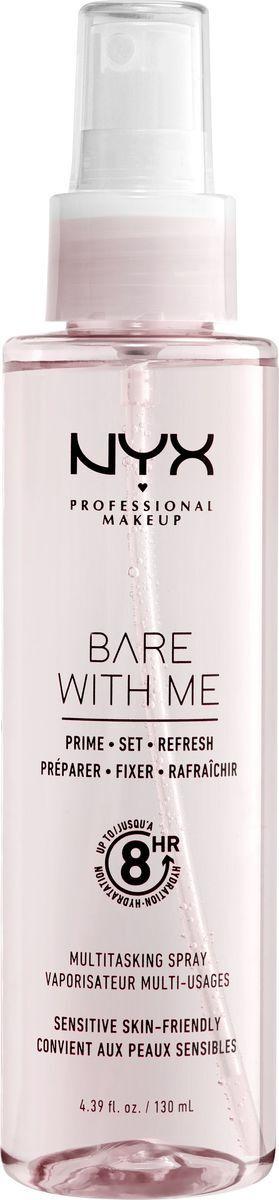 NYX Professional Makeup 3 в 1 Bare With Me Prime Спрей для фиксации макияжа, 130 мл  #1