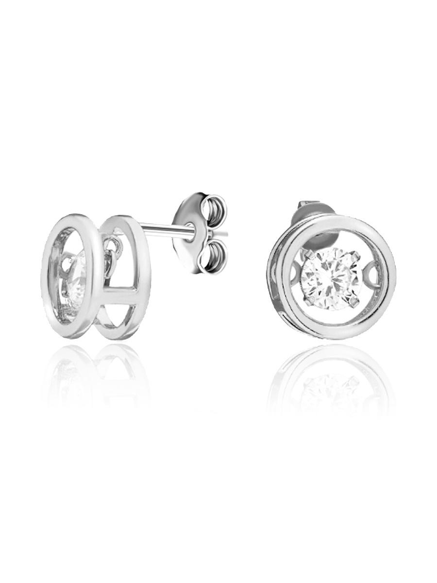 Серьги Lucente из серебра с кубическим цирконием #1