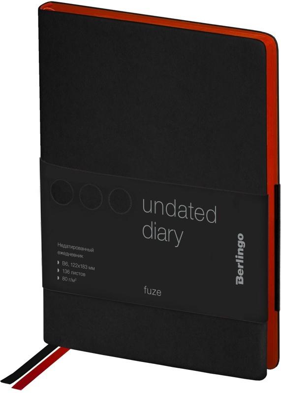 Ежедневник Berlingo Fuze недатированный, B6, 136 листов, черный #1