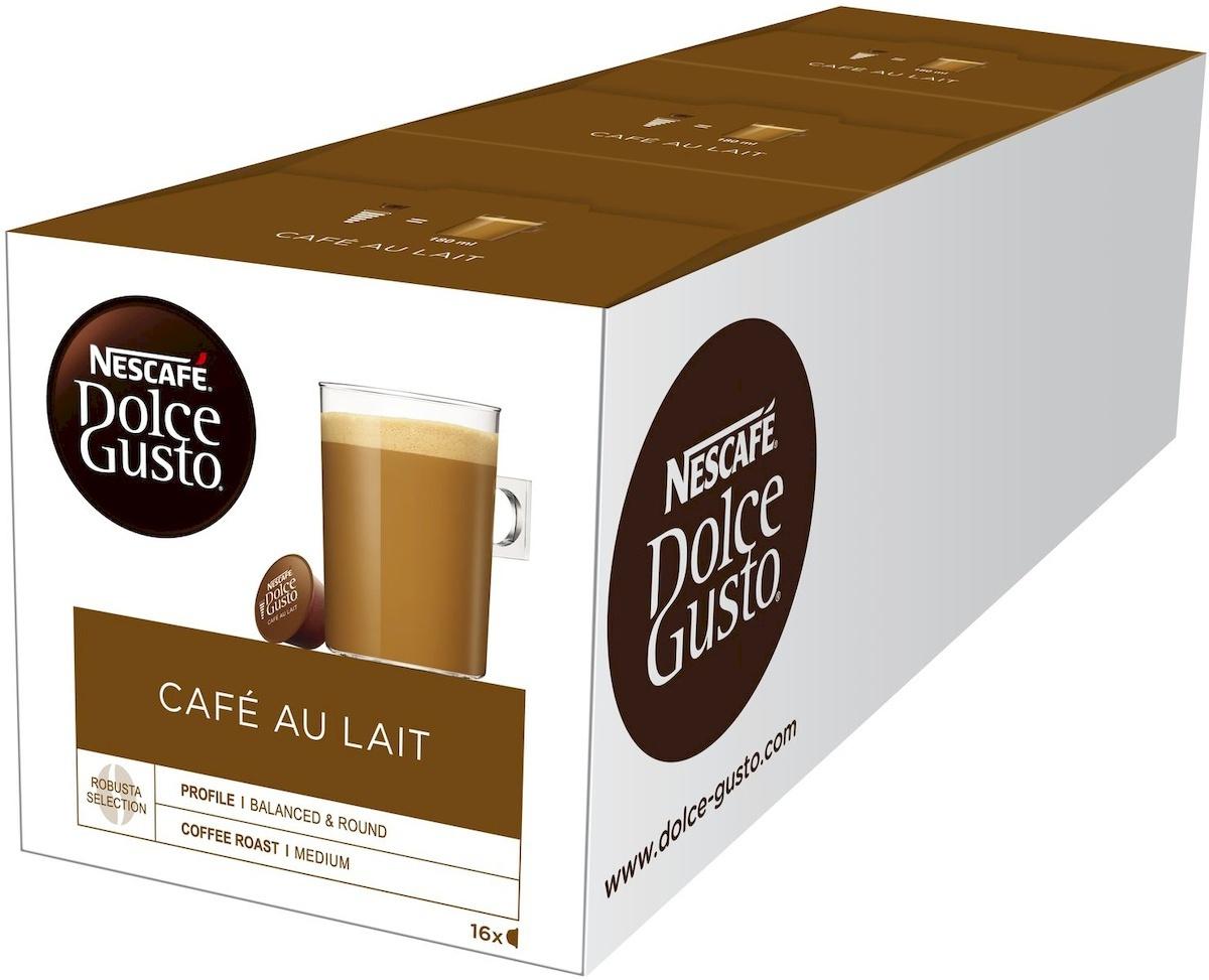Кофе капсульный Nescafe Dolce Gusto Кафе О Ле Кофе с молоком, 3 упаковки по 16 капсул  #1