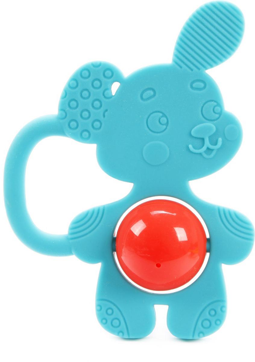 Развивающая игрушка Жирафики Силиконовый грызунок Щенок, с погремушкой, 939621  #1