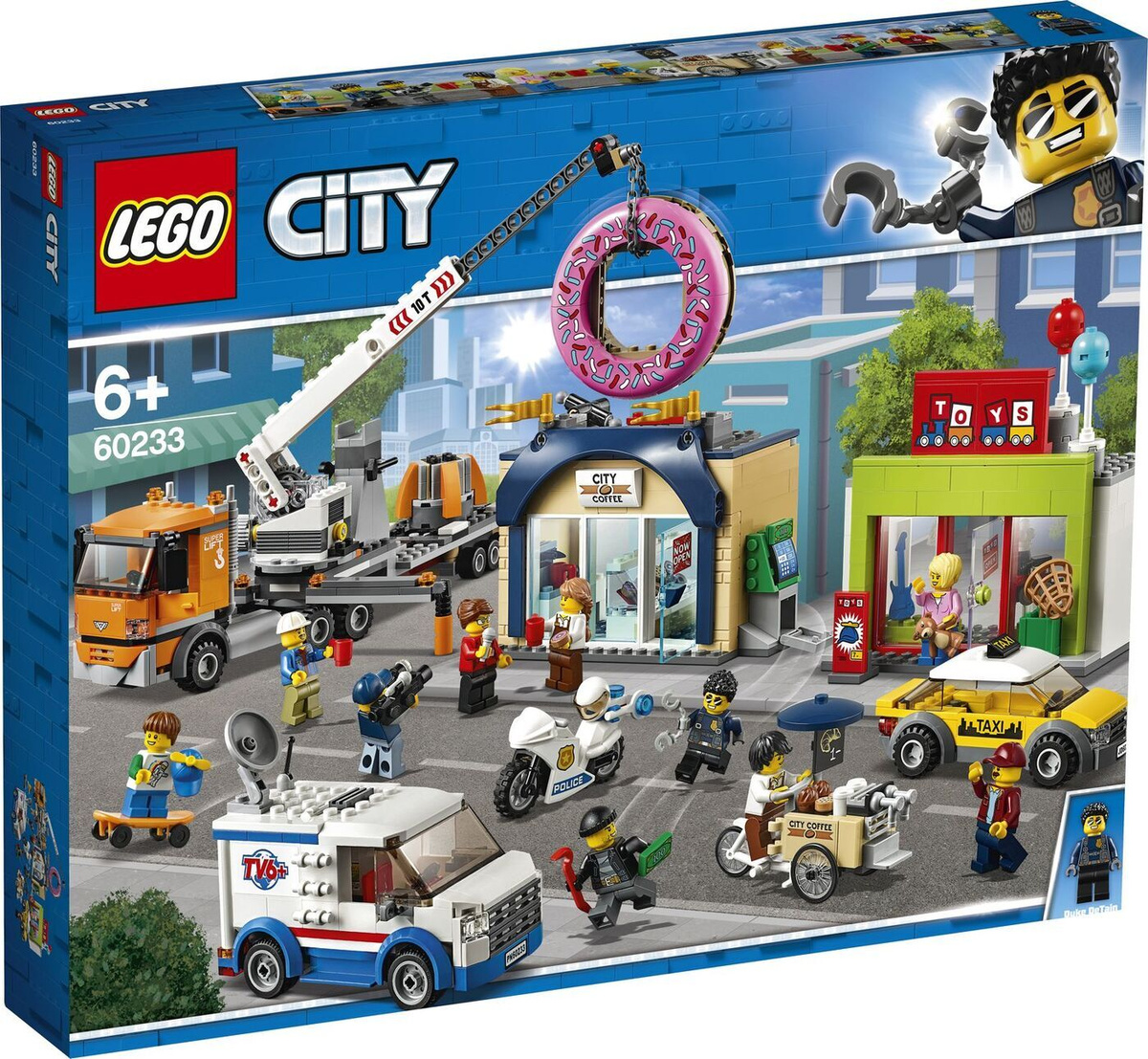 Конструктор LEGO City Town 60233 Открытие магазина по продаже пончиков  #1