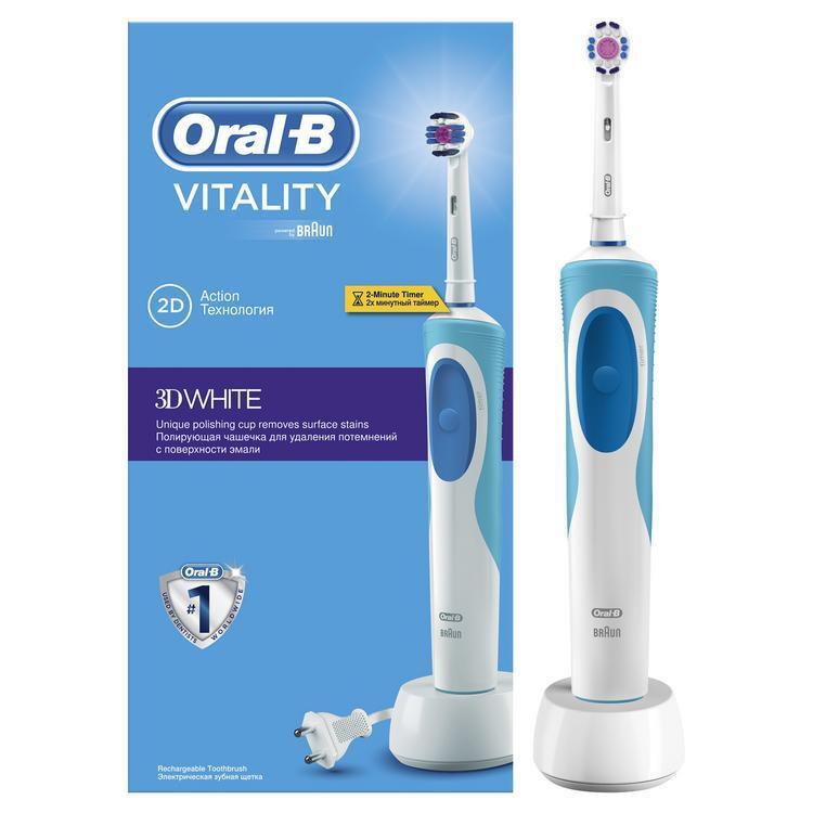 Электрическая зубная щетка Oral-B Vitality 3D White , белый #1