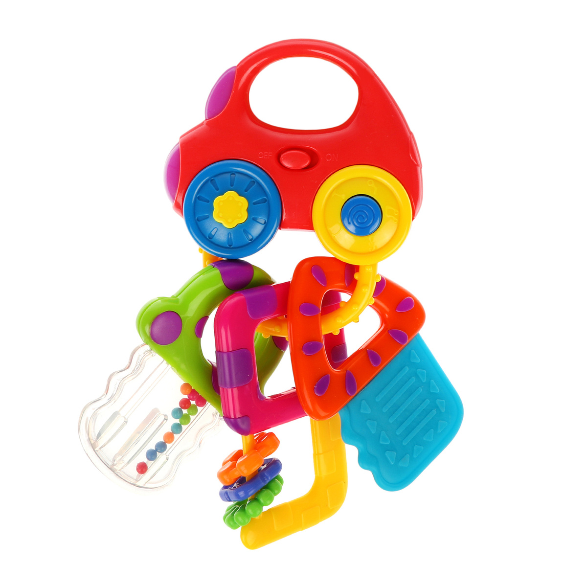 Жирафики Развивающая игрушка Машинка с ключиками со светом и прорезывателями  #1