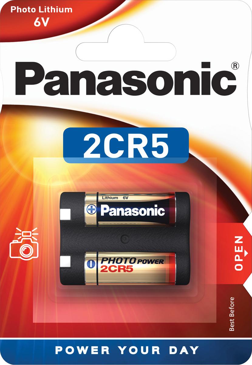 Батарейка Panasonic Lithium Power 2CR-5L/1BP, цилиндрическая литиевая
