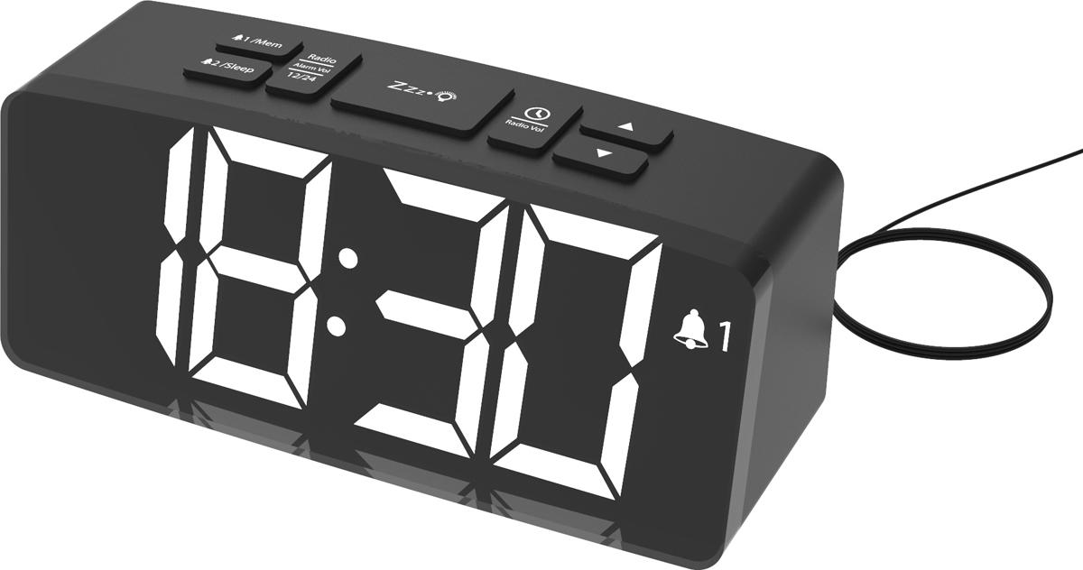 Радио-будильник Ritmix RRC-1830, черный ritmix rrc 616 black