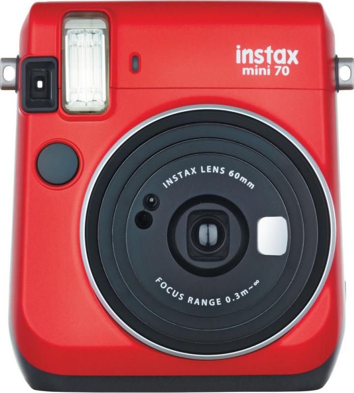 Фотокамера мгновенной печати Fujifilm Instax Mini 70, красный
