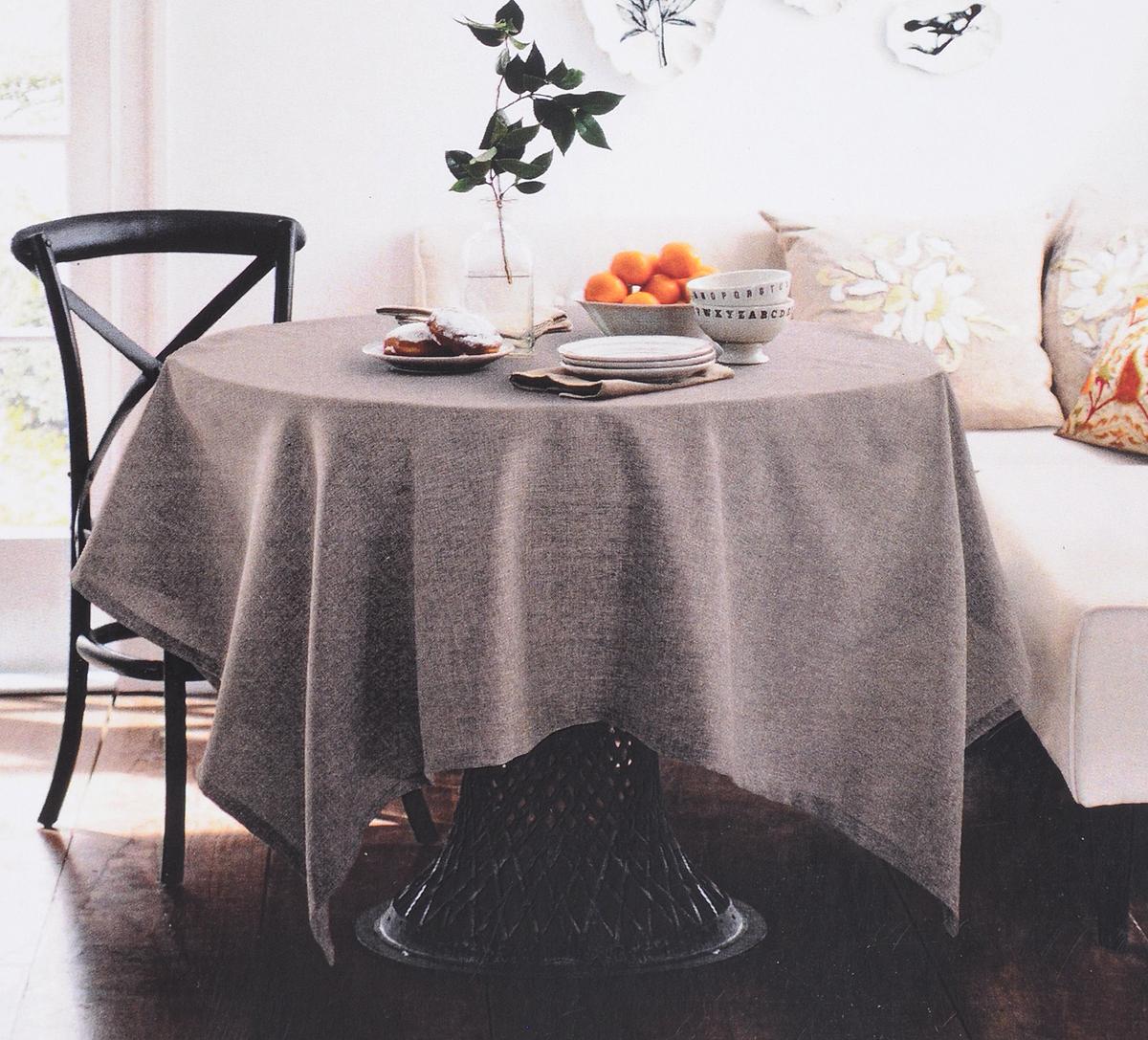 Скатерть Волшебная Ночь Какао, 729392, светло-коричневый, 165 х 200 см