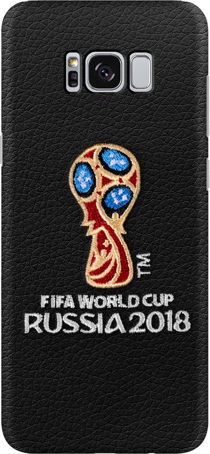 Чехол с вышивкой для Samsung Galaxy S8, FIFA Embroidery Offcial Emblem, Deppa чехол fifa 2018 official emblem white для samsung a5