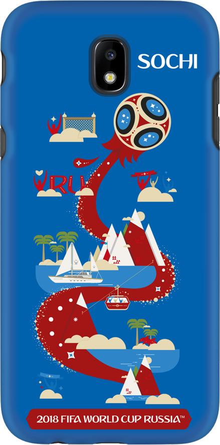 Фото - Чехол TPU для Samsung Galaxy J5(2017), FIFA Sochi, Deppa чехол perfeo для samsung j5 2017 tpu зеленый pf 5311