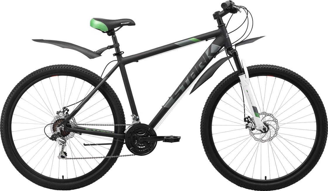 Велосипед STARK Tank 29.1 D 2019 18 чёрный/серый/зелёный