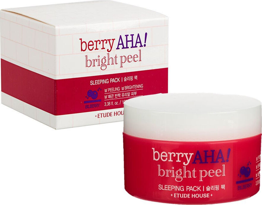 Ночная маска Etude House Berry AHA Bright Peel Sleeping Pack 100 мл etude house увлажняющая ночная маска moistfull collagen sleeping pack