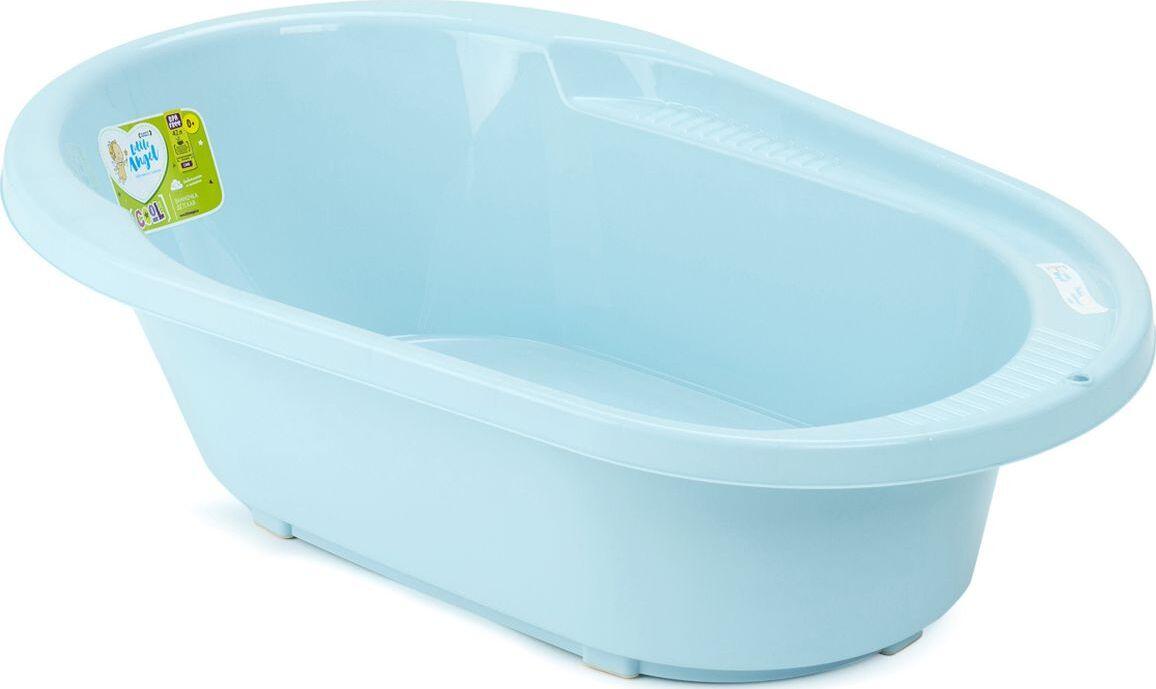 детские ванночки bebe jou ванночка для купания 6256 Ванночка детская Little Angel Cool, со сливом, голубой