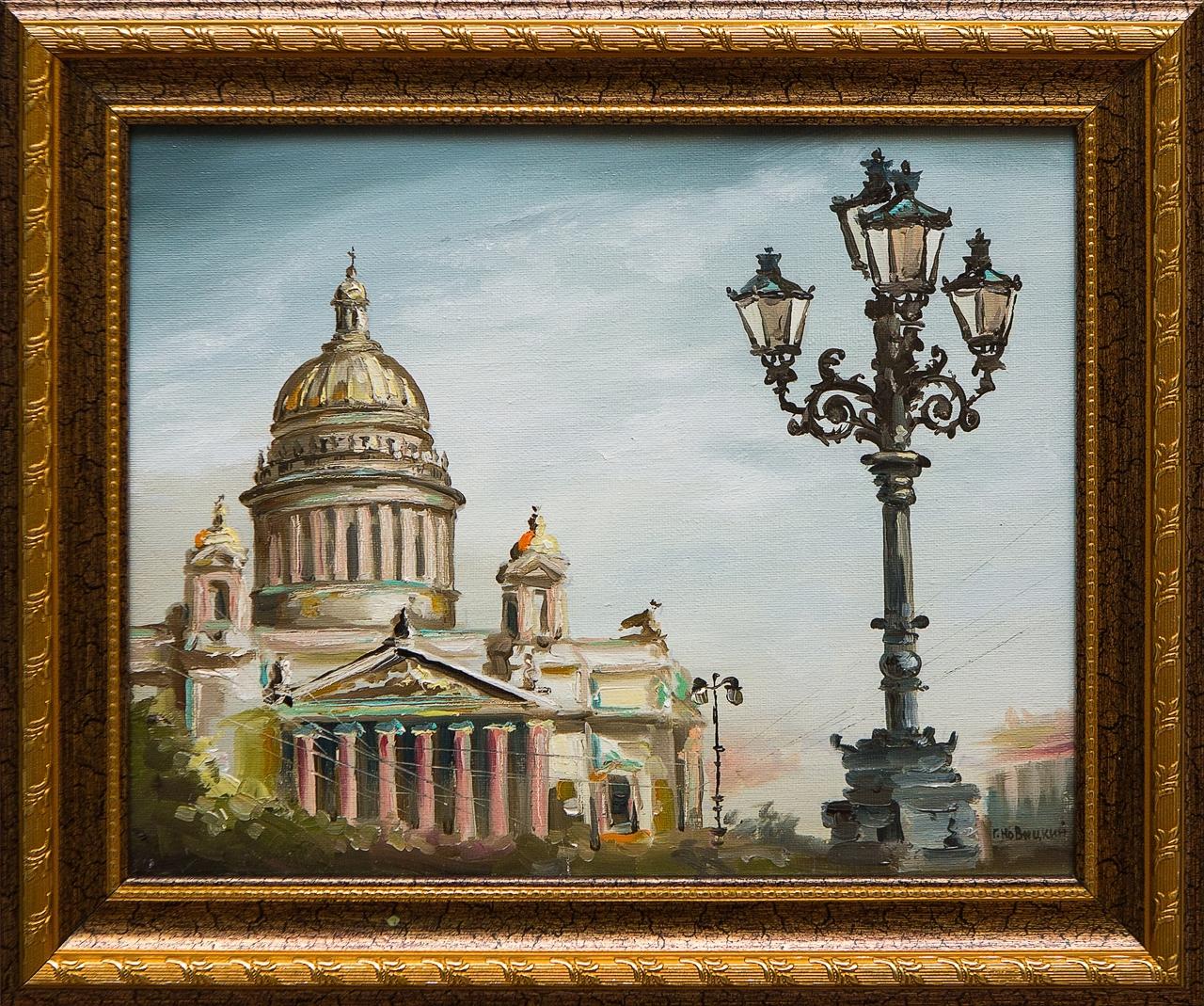 Картина маслом Вид на собор Новицкий картина маслом вид на троицкий собор новицкий
