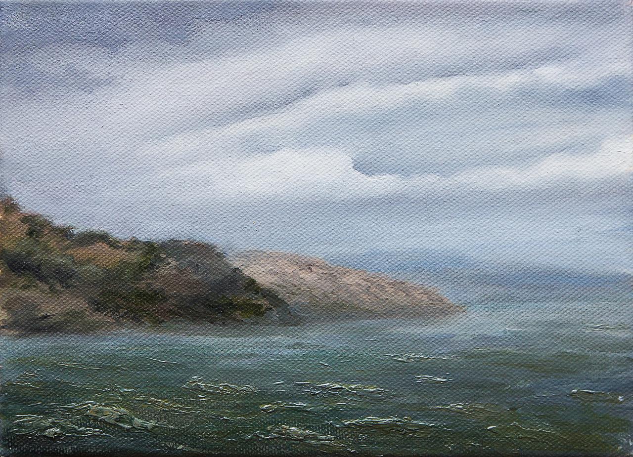 """Картина маслом """"Море"""" Бурцева"""