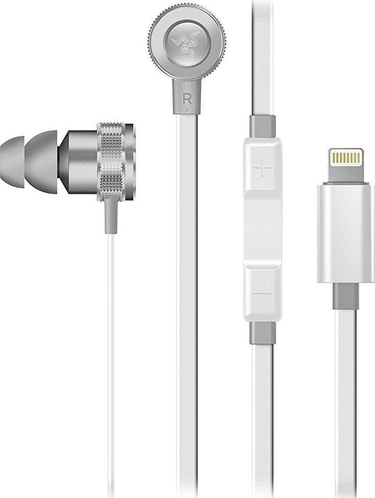 все цены на Гарнитура Razer Hammerhead for iOS Mercury Edition - Digital Gaming & Music In-Ear Headset - FRML Pa онлайн