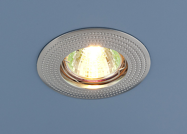 Встраиваемый светильник Elektrostandard Точечный 601 MR16 CH, G5.3 эра c0043804 st3 ch mr16 12v 220v 50w хром