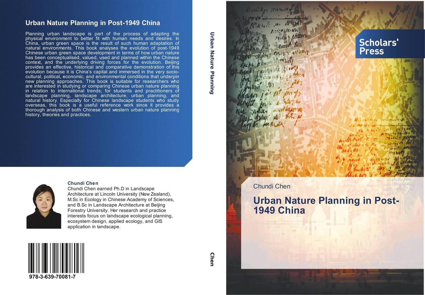 Chundi Chen Urban Nature Planning in Post-1949 China jordan yin urban planning for dummies