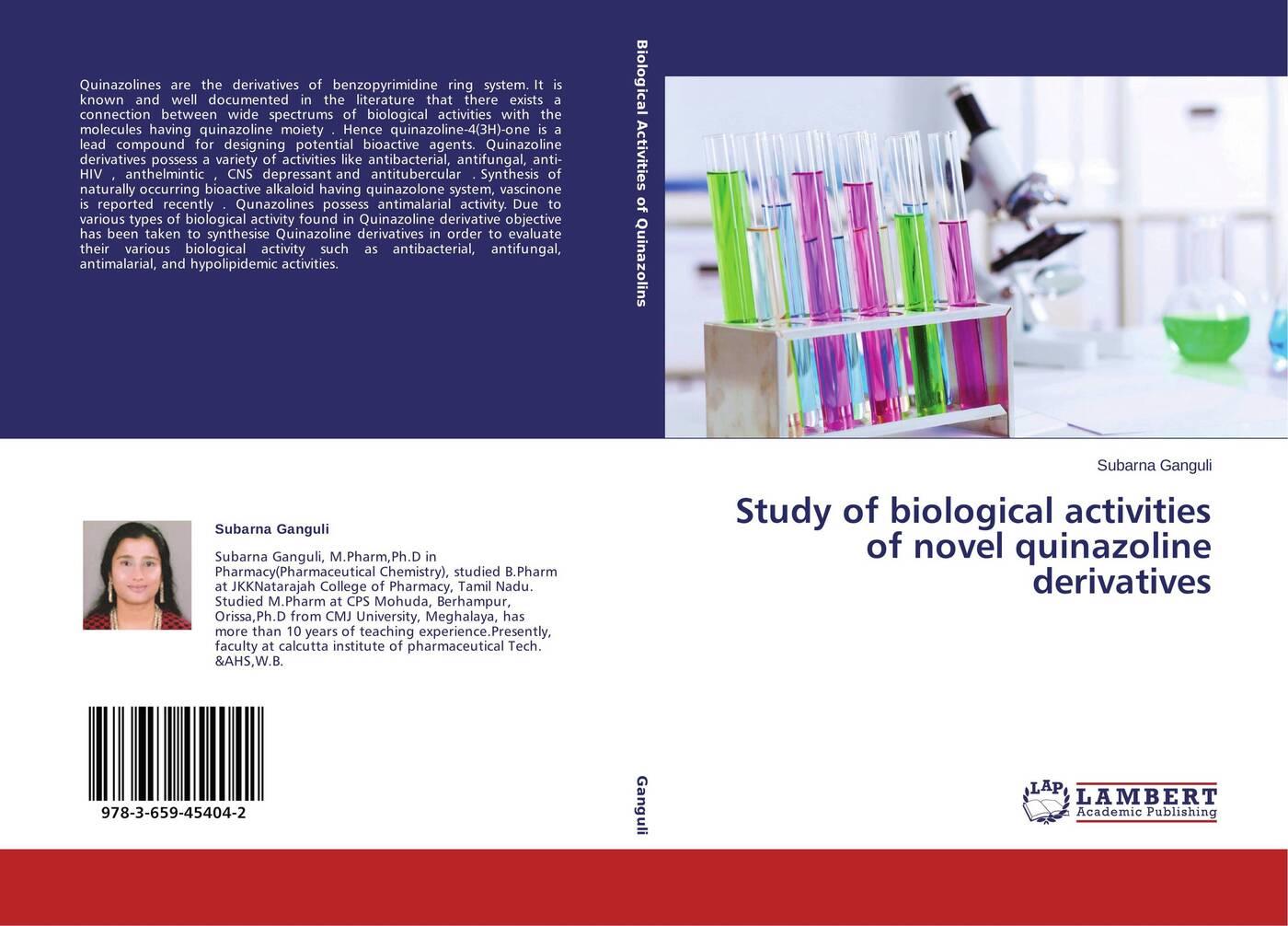 Subarna Ganguli Study of biological activities of novel quinazoline derivatives handbook of antibacterial agents
