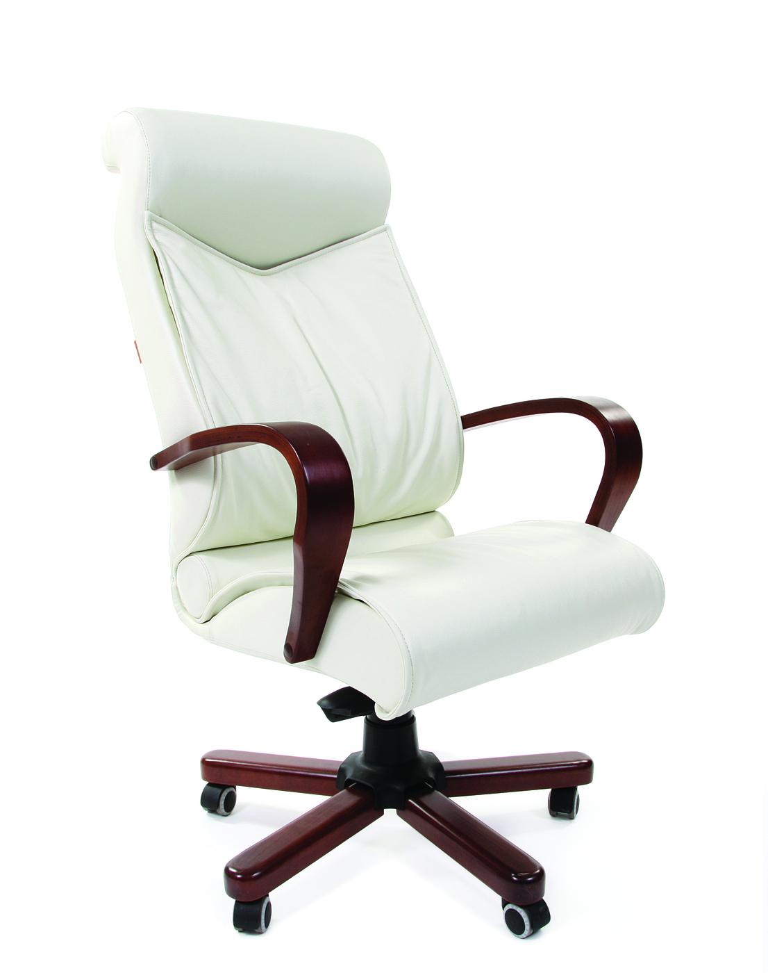 Офисное кресло Chairman    420    Россия     WD кожа белая