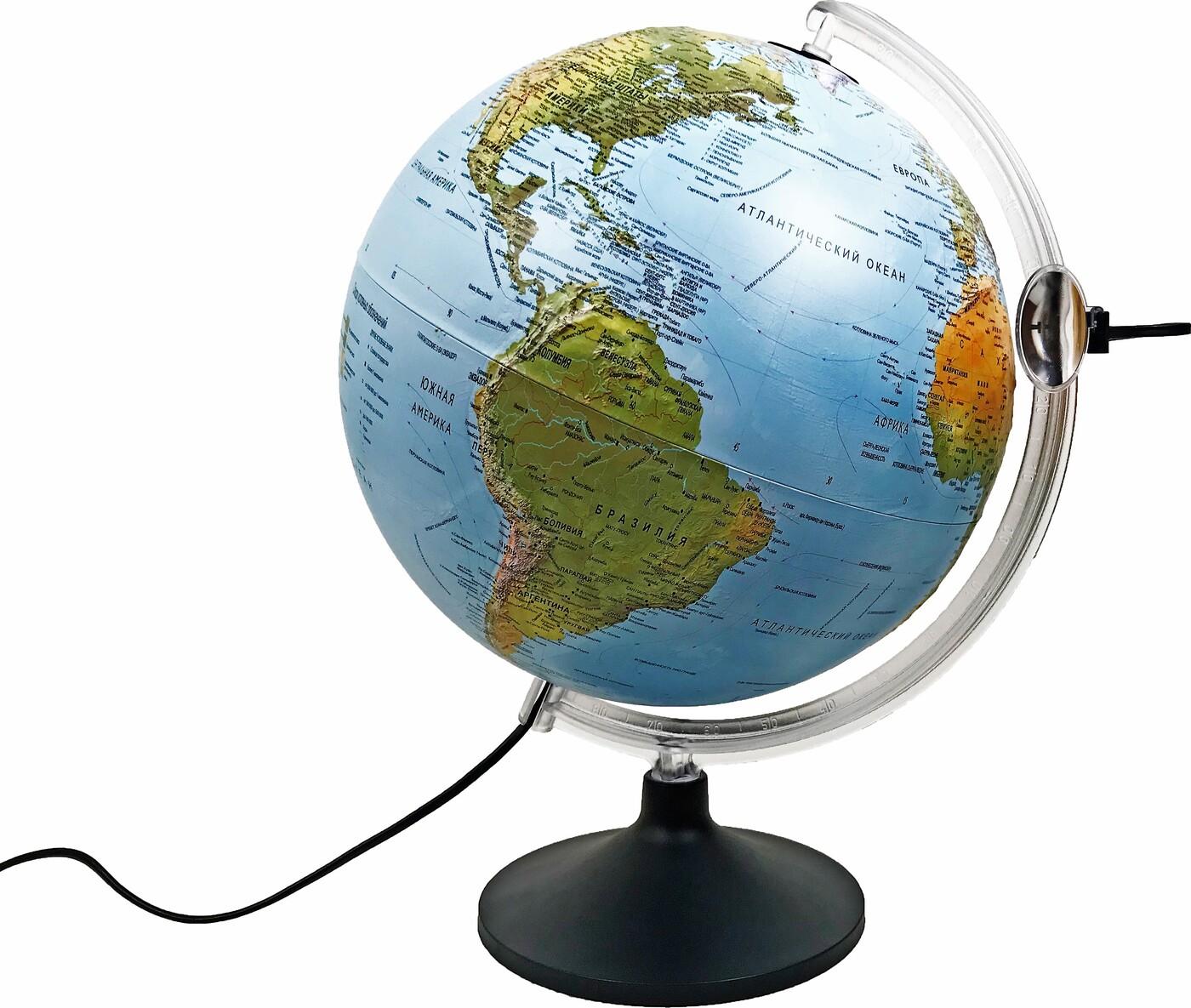 Глобус рельефный с подсветкой URANIO, диаметр 30см.