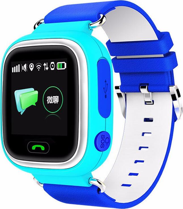 Часы Smart Baby Watch Q90 с сенсорным экраном - Голубые q100 q750 smart watch phone baby children kids gps tracker 1 54 touch screen wifi location sos anti lost device safe pk q50 q90
