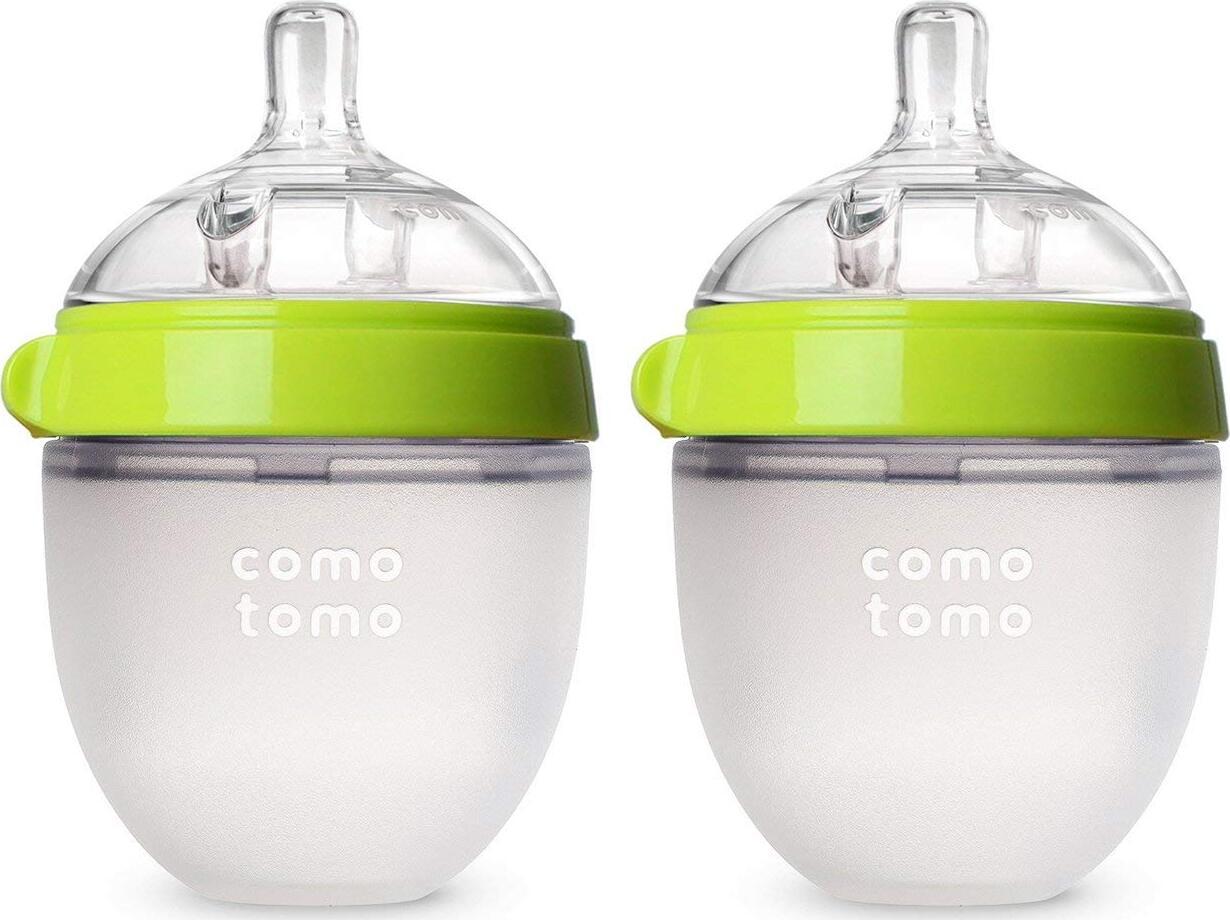 Набор из 2х бутылочек для кормления Comotomo - Зеленые (150 мл)