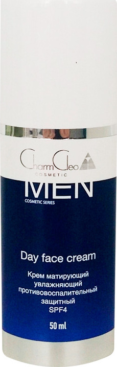 Крем матирующий, увлажняющий, противовоспалительный, защитный SPF4 Day face cream 50 мл.  CharmCleo Cosmetic Charm Cleo Cosmetic