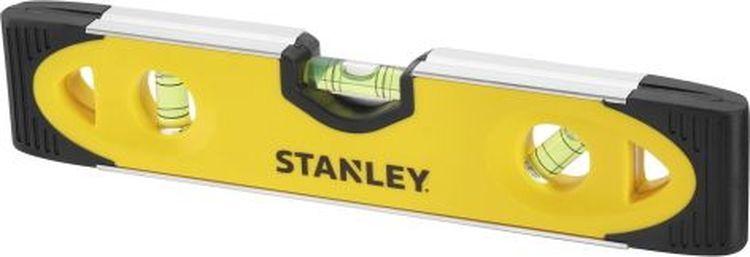 """Уровень магнитный Stanley """"Torpedo"""", 3 капсулы, цвет: желтый, 23 см"""