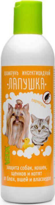 Шампунь инсектицидный для собак и кошек Лапушка, 220 мл