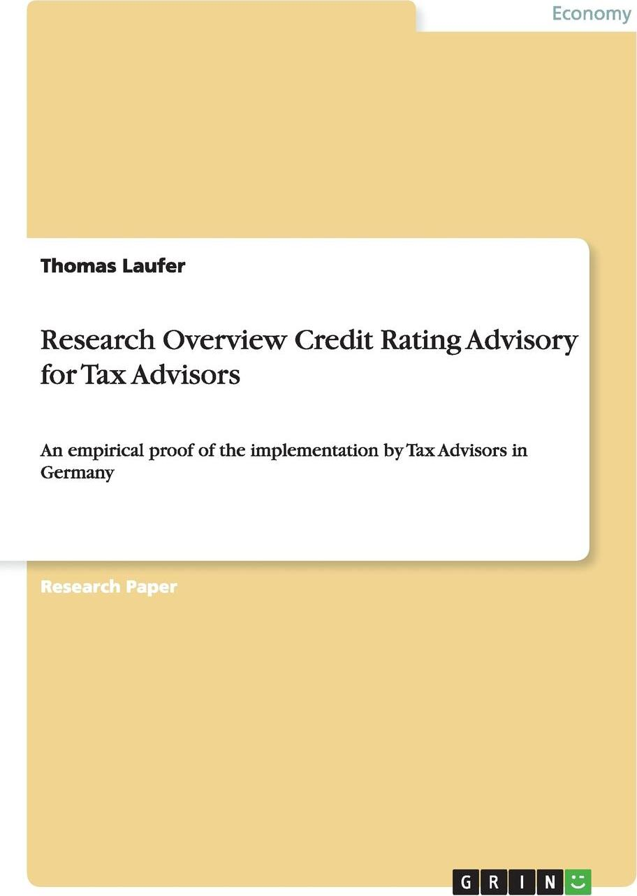 Research Overview Credit Rating  ...