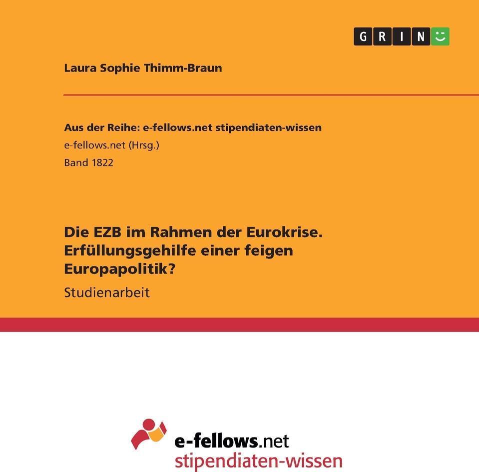 Die EZB im Rahmen der  ...