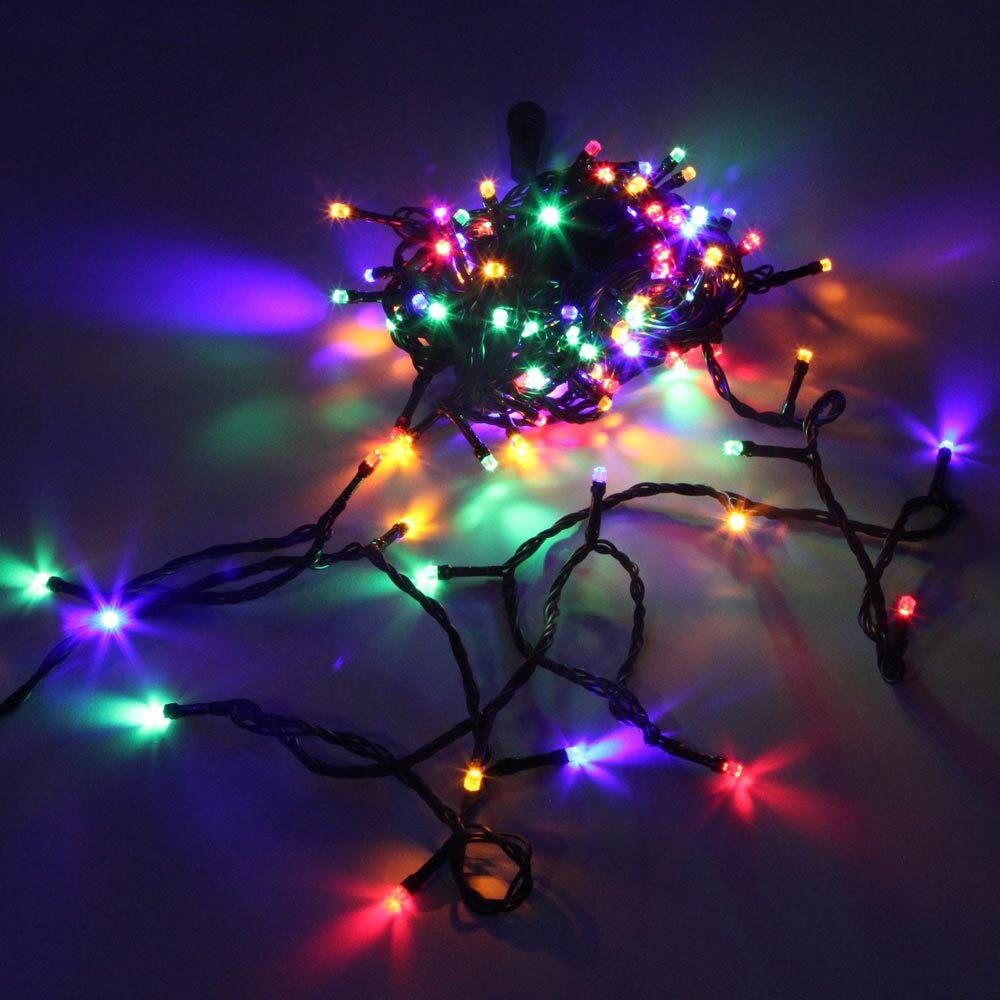 """Гирлянда-нить """"Кристалл"""" SH Lights DC-LD120-M-E, 12 м, 120 светодиодов, цвет: мульти"""
